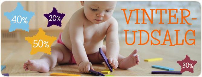 Udsalg på stofbleer og økologisk tøj til børn.